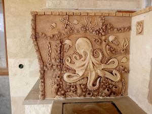 """Ceramic panel """"Octopus"""" 900 x  900 mm"""